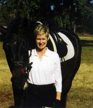 Susan Todd and her horse, Geyser